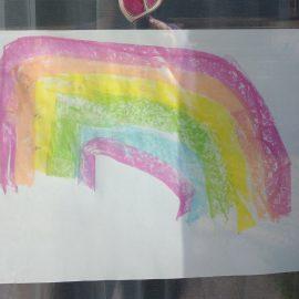 Regenbogen-Mal-Aktion für Kinder
