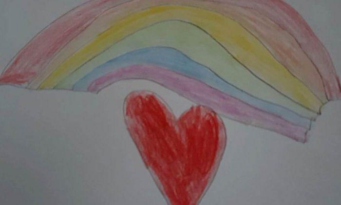 Caitlyns Regenbogengruß