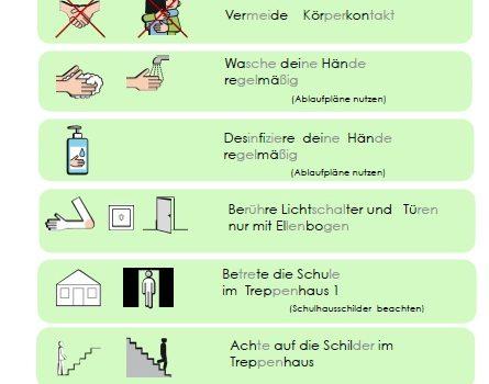 Aktualisierter Hygieneplan der Albatros-Schule